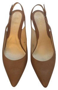 Cole Haan Slingback Work Tan Wooden Nude Beige Brown Pumps