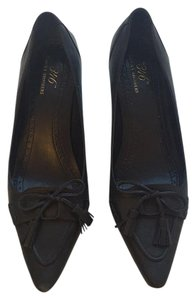 Brooks Brothers Wooden Tassels Bow Work Blue, Navy Pumps