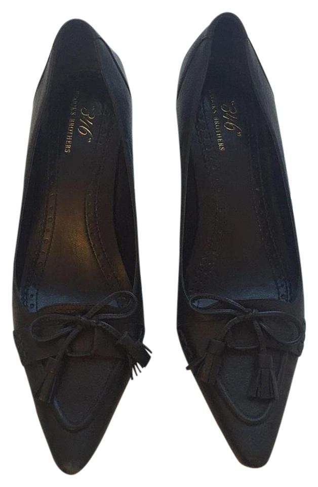 9b160236ba2 Brooks Brothers Blue Navy Wooden Heel with Tassels Bow Pumps. Size  US 8  Regular (M ...