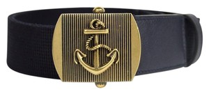 Gucci New Gucci Fabric Belt Anchor Brass Buckle 90/36 375191 4009