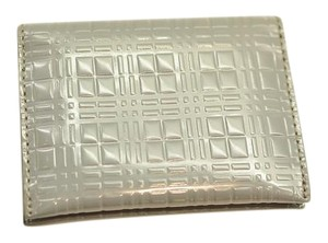 Burberry Grey patent card holder wallet