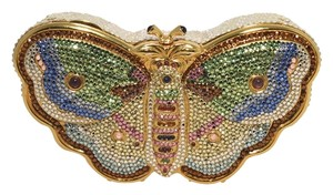 Judith Leiber Butterfly Minaudiere Crystal multicolored Clutch