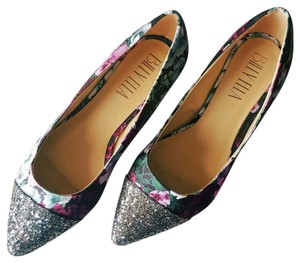 Anthropologie Purple Green & Shimmer Flats