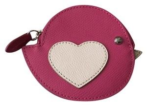 Coach Coach 63144 Love Heart Bird Leather Coin Purse