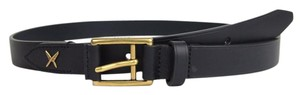 Gucci New Gucci Leather Belt Gold Buckle Feather 110/44 375182 4009