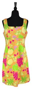 Lilly Pulitzer short dress Multi-Color Sleeveless Floral Fruit Summer Empire Waist on Tradesy