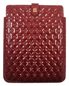 Fendi Fendilicious Red Patent Leather Ipad Cover Case Italy