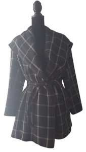 Giorgio Armani Checkered Tartan Vintage Trench Coat