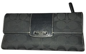 Coach COACH Multifunction Pockets Trifold Envelope Wallet Black
