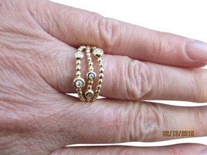 "PANDORA 14K Pandora ""Precious Memory"" Ring Set with Diamonds Size 54 (6 3/4) - New - $725"