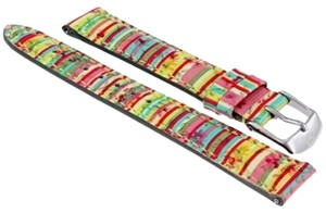Michele Michele Tropical Jungle Patent Leather Watch Band