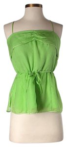Twelfth St. by Cynthia Vincent Silk Sleeveless Crop Top Green