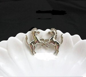 Western Style Horse Pierced Earrings Free Shipping
