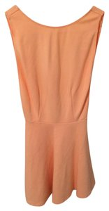 American Apparel short dress Peach on Tradesy