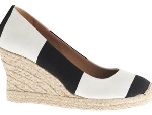 J.Crew Black and white Wedges
