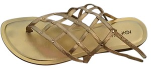 Nine West Strappy Strappy Gold Sandals