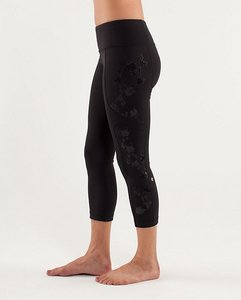 Lululemon Lulu Tights Exercise Workout Capris Black