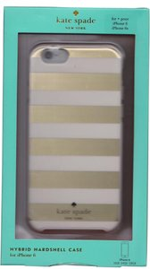 Kate Spade Kate Spade Gold Ivory Stripe Hardshell Hybrid Case Cover iPhone 6/6S