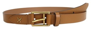 Gucci New Gucci Leather Belt Gold Buckle Feather 110/44 375182 2613
