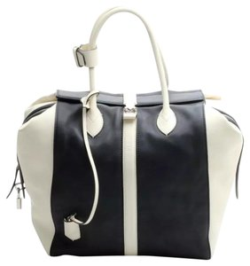 Louis Vuitton Tote in Navy Blue And Cream