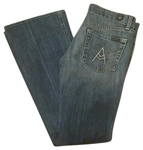 7 For All Mankind A Pocket Hole Boot Cut Jeans-Distressed