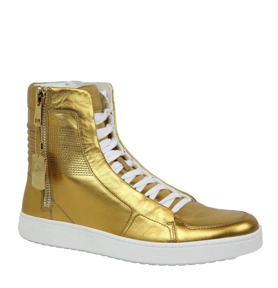 a5c23de60ae Gucci Gold Men s High-top Limited Edition Size 6 G   Us 6.5 376193 8061  Shoes