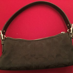 Coach Satchel in Black Jacquard Signature