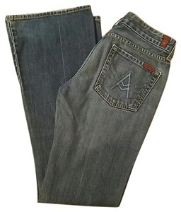 7 For All Mankind Man Kind Boot Cut Jeans-Distressed