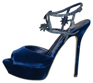 Sergio Rossi Prada Dior Jimmy Choo Navy Blue Sandals