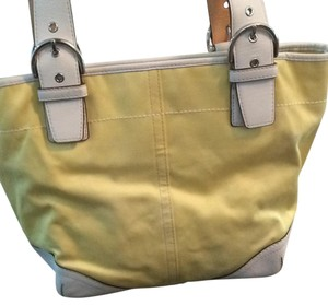 Coach Tote in Yellow and White