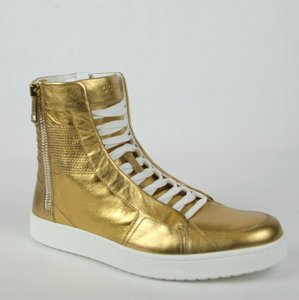 Gucci Gold Men's High-top Limited Edition 9 G / Us 9.5 376193 8061 Shoes