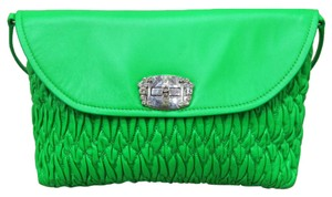 Miu Miu Crystal Leather Shoulder Bag