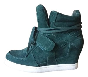 Ash Wedge Sneaker Suede Urban Forest Green Boots