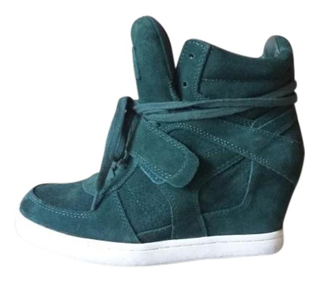 Item - Forest Green Suede Lace Up Wedge Sneaker Boots/Booties Size US 8 Regular (M, B)