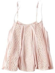 American Eagle Outfitters Lace Embroidered Soft Swing Top Blush Pink