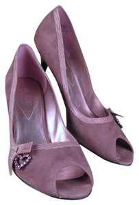 Guess By Marciano Suede Leather Snakeskin Pink Pumps