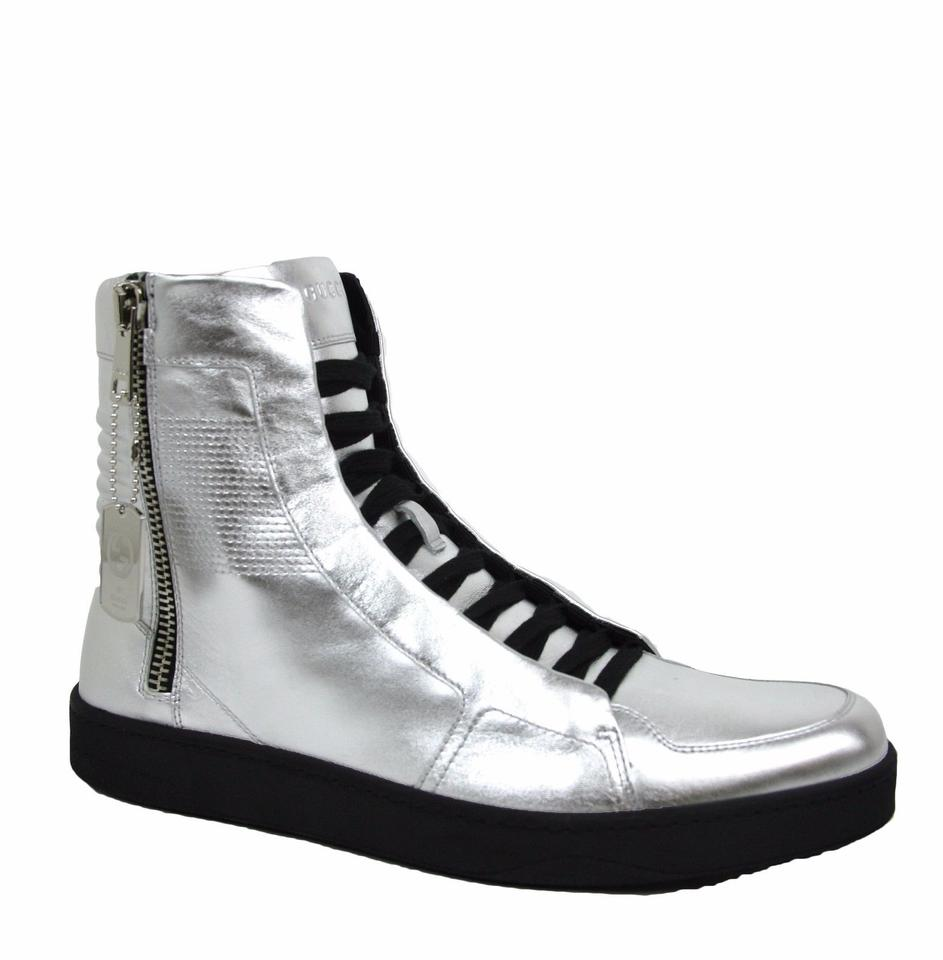 4bb96b45c Gucci Silver Men's High-top Sneaker Limited Edition 9.5 G/Us 10 376191 8163  ...