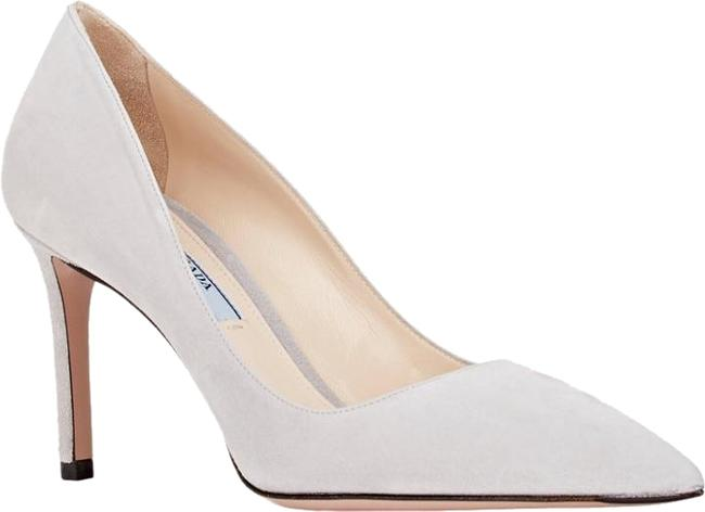 Item - Gray Suede Point-toe Pumps Size US 10.5 Regular (M, B)