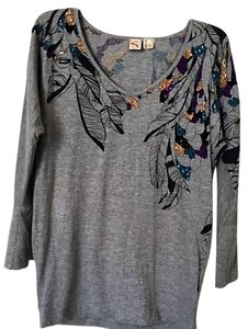 French Connection Top Grey Multi