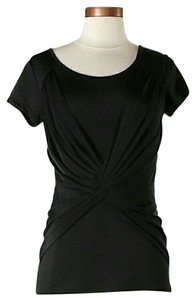 Carmen Marc Valvo Twist T Shirt Black