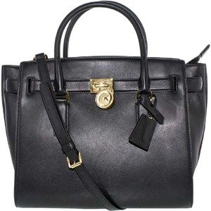 Michael Kors Model 35s6ghxs3l Hamilton Traveler Tote Satchel in BLACK
