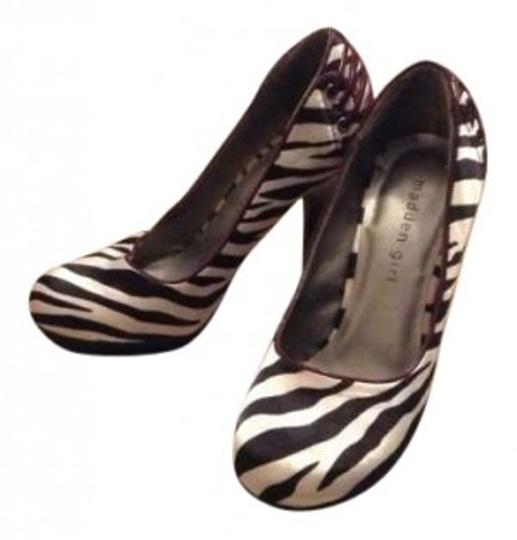 Madden Girl zebra Pumps