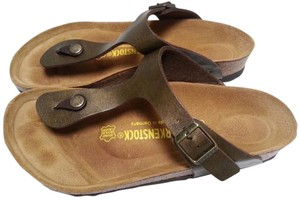Birkenstock Adjustable Straps Cork And Latex Golden Brown Sandals