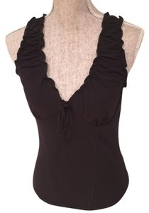 Max Studio V-neck Top Black