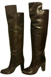 Saks Fifth Avenue Dark Brown Boots