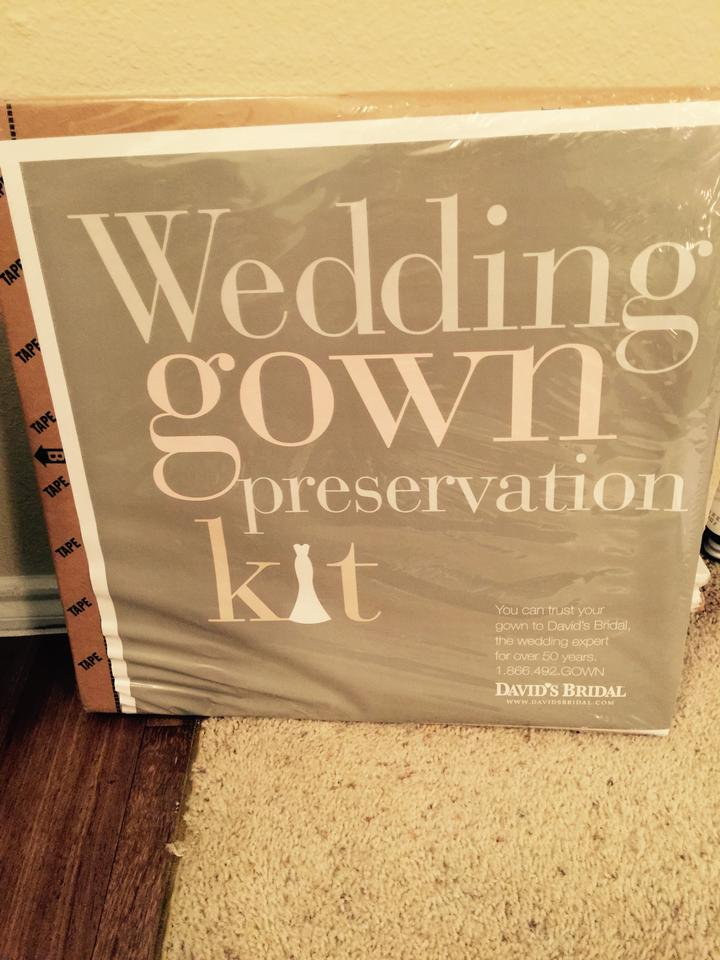 David\'s Bridal Wedding Gown Preservation Kit - Tradesy