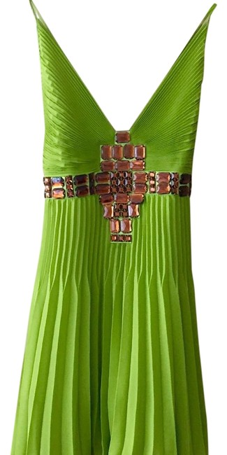Item - Green/ Amber Short Night Out Dress Size 2 (XS)