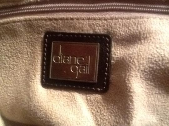 Diane Gail Fur Satchel in Brown with white and light brown streaks Image 8