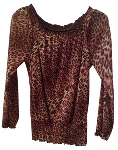 Nouvelle Bridal Top Cheetah Print