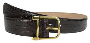 Gucci New Gucci Women Brown Belt w/Gold Buckle Size 95/38 257319 E7I0T 2140